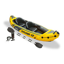 Intex Explorer K2 Yellow 2 Person Inflatable Kayak with Aluminum Oars & Air