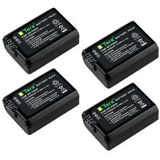 4X 1950mAh NP-FW50 Battery for Sony A7S A7R a6100 NEX 6 5R 5N 5T 3N NEX-7 Camera
