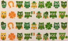 Nail Art Water Decals St. Patrick's Day Owls Irish Four Leaf Clover
