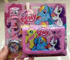 My little Pony Kids wallet and watch sets gift girls children purse watches P021