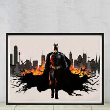 Batman, high quality A2 poster printer on smooth art matt 250gsm photo paper