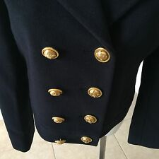 1992 vintage CHEAP and CHIC by MOSCHINO blue navy wool & mohair jacket size us 8