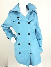 Women's Michael Kors Heritage 194128  Blue Trench Coat Size L $200