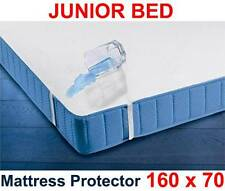 Waterproof Mattress Protector 160 x 70cm/Junior Bed Breathable Terry Sheet Cover