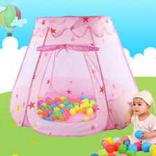 Pop Up Play House Kids Girls Pink Tent Children Indoor Outdoor Princess Castle