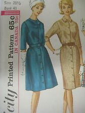 Vtg 60's Simplicity 5078 SQUARE ARMHOLE DETAIL DRESS Sewing Pattern Women UNCUT