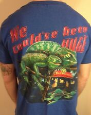 """Budweiser - """"We Could Have Been Huge"""" T-Shirt - Sz: L- 90s- Beer-Funny- Lizards"""