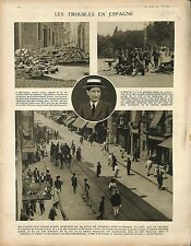 Spain Revolution Marcelino Domingo Sanjuan Segunda Republica Barcelone 1917 WWI
