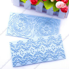 Newest Cake Decorating Mold Lace Trim Fondant Embossing Pattern Mold DIY Baking