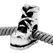 Hiking Hunting Work Boot Shoe Bead for Silver European Style Charm Bracelets