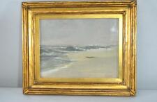 Original Gouache On Paper Seascape Painting By A. W. Currier Gold Frame