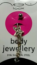 GLITTER STAR BELLY BAR  GOTHIC/WHITBY/FANCY DRESS FREE UK P&P