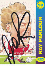 RAY PARLOUR Signed ARSENAL Trading CARD (Promatch Card)