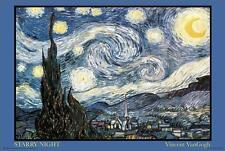 STARRY NIGHT - VAN GOGH ART POSTER - 24x36 - 211