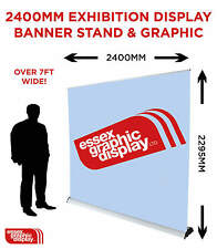 2.4m Extra Wide 2400mm x 2295mm Exhibition Display Premium Roller Banner Stand