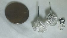 925 Silver Earrings Beautiful knotted bead stud, light weight