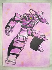 Canvas Painting Transformers Shockwave Mottled Art 16x12 inch Acrylic