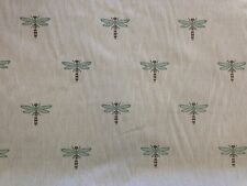 CHESS DRAGONFLY MARINE INSECTS BUGS NATURAL WOVEN CURTAIN FURNISHING FABRIC