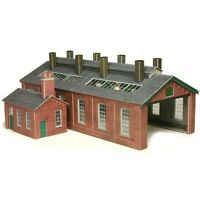 Metcalfe PO213 Red Brick Engine Shed Die Cut Card Kit 00 New - Tracked 48 Post