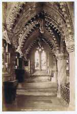 ROSSLYN CHAPEL The Lady Chapel - Antique Albumen Photograph c1890 by GWW