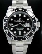 ROLEX GMT-MASTER II 116710 LN SS BLACK CERAMIC BEZEL *MINT* 2014 PAPERS