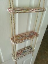 HANDMADE SHABBY CHIC THREE TIER  ROPE LADDER / SHELF / SPICE RACK TOTALLY UNIQUE