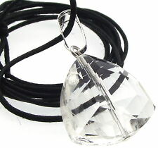 Clear Triangular Cut Andara Crystal Pendant with COA Free Worldwide Shipping