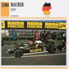 1980 MAURER MM80 Racing Classic Car Photo/Info Maxi Card