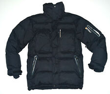 Peak Performance R&D Men`s Air DOWN Goose Parka Black Jacket Coat Size S Blizzar