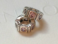 2 X Authentic Pandora Trinity Pink Sterling Spacer 790368PCZ