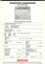 NORDMENDE Compact HIFI System 960 982.166 H - Service Information  B1904