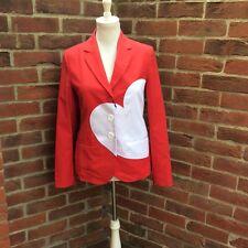 Stunning Love Moschino Red & White Heart Jacket - BNWT (£490)