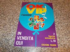 LOCANDINA ALBUM FIGURINE OK VIP PANINI MANIFESTO PUBBLICITARIO ANNI 70