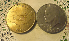 Commerative large/dollar size /heavy medal/Token /Roth Saftey #189