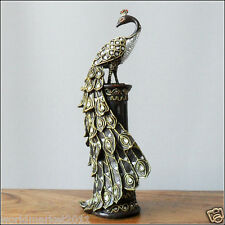 #49 New European Golden Resin Height 33cm Peacock Decorative Crafts Statue