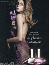 PUBLICITE ADVERTISING 065  2009  CALVIN KLEIN  parfum femme EUPHORIA B. PALVIN