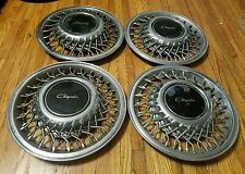 """Set of 4 1990-94 Chrysler Lebaron New Yorker 14"""" Wire Spoked Hubcap Wheel Covers"""