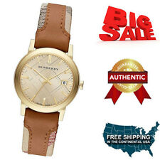 NEW AUTHENTIC Burberry The City Haymarket Check Leather Ladies Watch BU9133