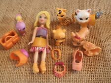 "Polly Pocket Lot ""Colors of the Rainbow"" Doll Orange Pets Cat Dog Accessory L31"