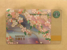 Japan 2011 Starbucks Sakura Cherry Blossom Gift Card~Very Rare w/Bonus Bookmark