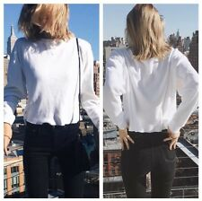 Last one! Brandy Melville White Waffle print  long sleeve LAILA thermal top NWT