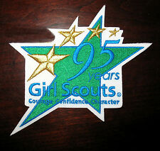 NEW Girl Scout Patch 95TH ANNIVERSARY STAR-2007 Collector GIFT Multi=1 Ship Chg
