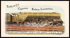 Streamlined Express Cock O' The North #19 Railway Locos, Cigarettes Card (C145)