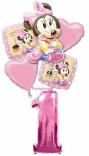 MINNIE MOUSE BABY 1ST BIRTHDAY PARTY BALLOONS BOUQUET