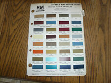 1979 AMC & Ford Interior Color Chip Paint Sample