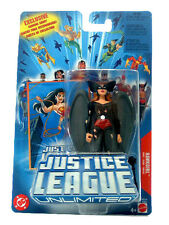 "JUSTICE LEAGUE UNLIMITED__Battle-Damaged Black Suit HAWKGIRL 4.5 "" action figure"