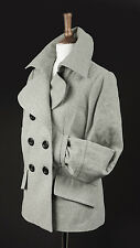 MARKS AND SPENCER WOMEN'S WOOL RICK PEA COAT SIZE10 NWOT