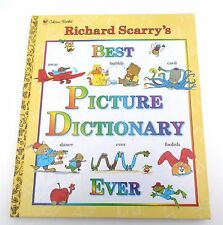 Vintage 1994 Golden Books Richard Scarry's Best Picture Dictionary Ever