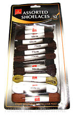 12 PAIRS ASSORTED SHOELACES  SPORT TRAINERS, HIKING BOOTS ETC, 60, 150CM  KC2633