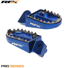 RFX Pro Series Shark Teeth Footrests Blue Yamaha YZF250 2016 2017 NEW MX FOOTPEG